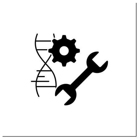 Genetic engineering glyph icon