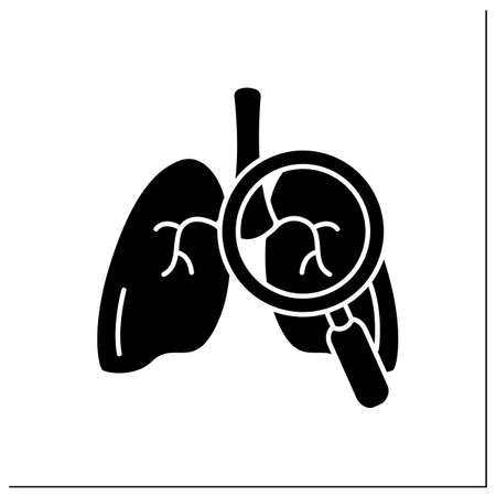 Lungs glyph icon Illustration