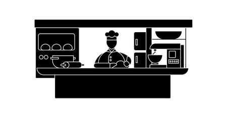 Cook glyph icon Illustration