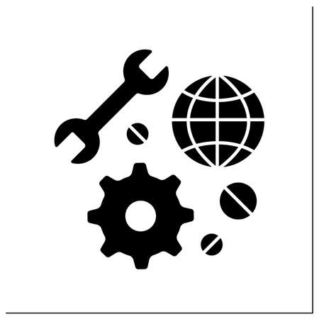 Technical support glyph icon