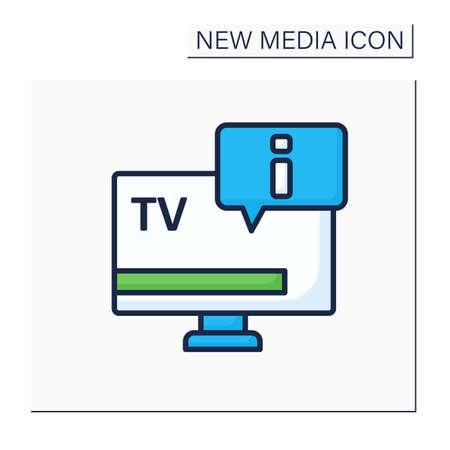 TV color icon Illustration