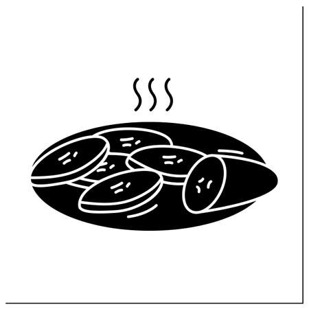 Fried plantain glyph icon