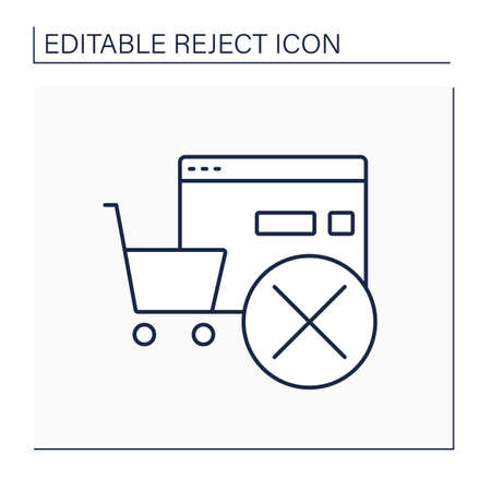 Rejected order line icon