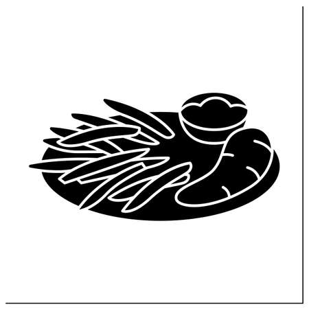Afro-Caribbean food glyph icon