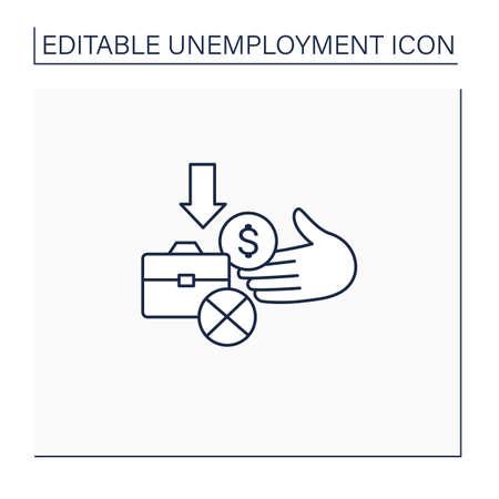 Unemployment benefit line icon