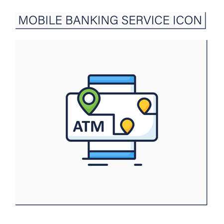 ATMs mobile map color icon