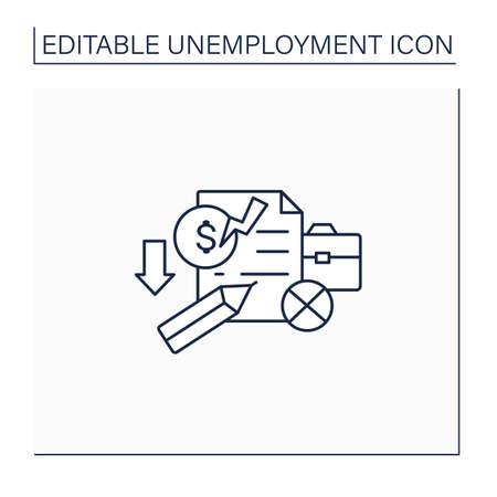 Unemployment claim line icon