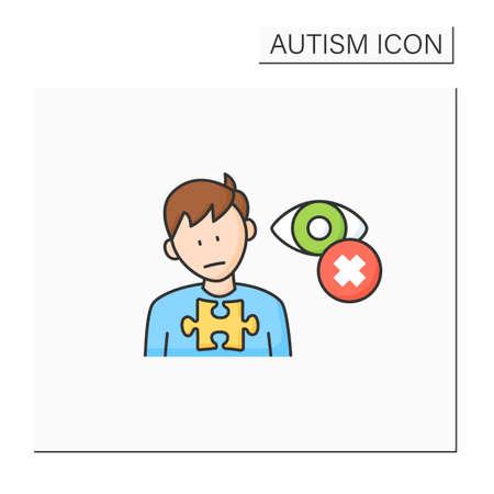 Neurodevelopmental disorder color icon