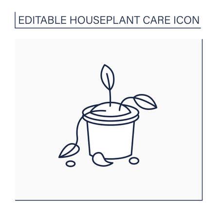 Deadhead flowers line icon Illustration