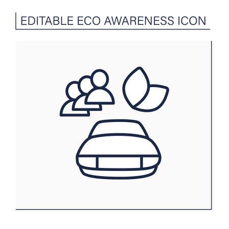 Roadsharing line icon