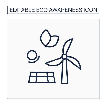 Energy line icon Illustration