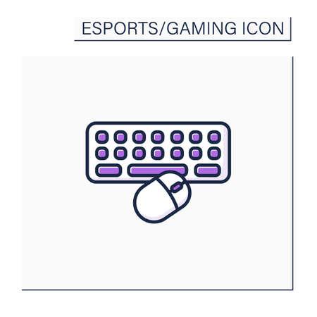 Technical equipment color icon Illustration