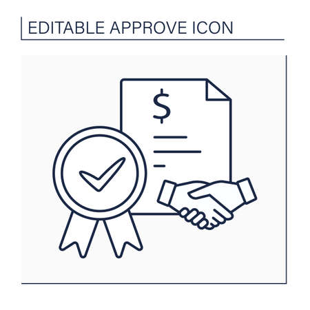 Loan agreement line icon