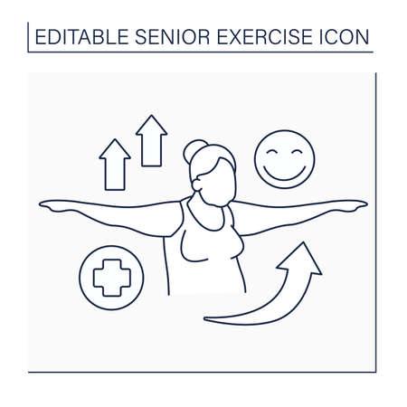 Workout line icon Illustration