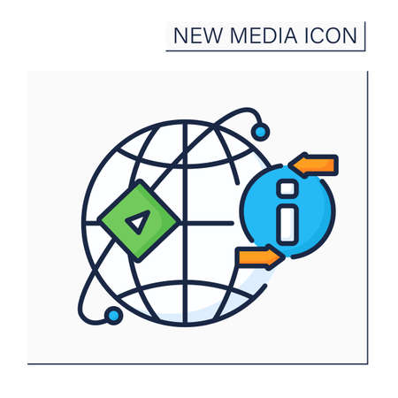 Media sharing networks color icon