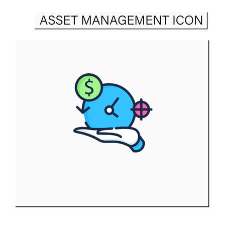 Asset management color icon