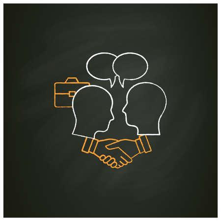 Negotiation chalk icon Illustration