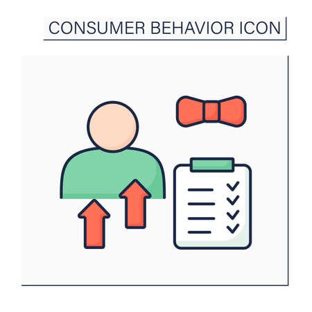 Personal characteristic color icon Ilustración de vector