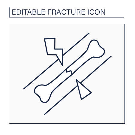 Hairline fracture line icon