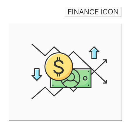Sales forecasting color icon