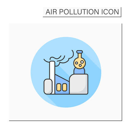 Factory chemicals color icon