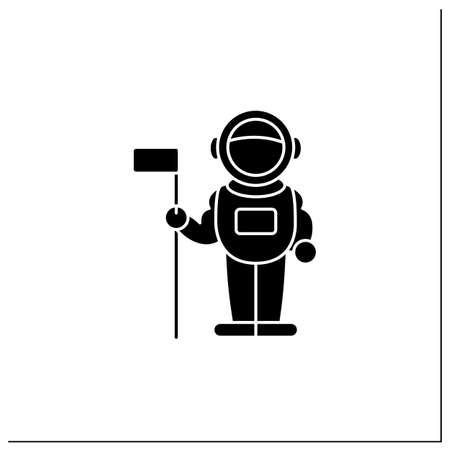 Astronaut glyph icon