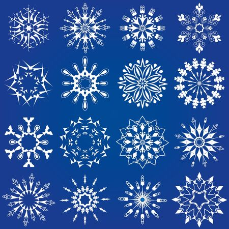 snowflakes set Stock Vector - 17658207