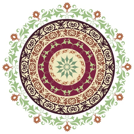 circle ornament  eastern style  Illustration