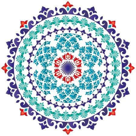 Oosters patroon en ornamenten Turks ontwerp