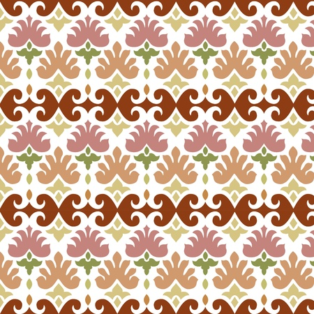 ottoman seamless pattern  elegant design  Vector
