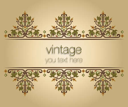 ornate vintage frames  turkish design  Vector