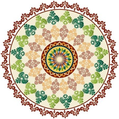 Oosters patroon en ornamenten oostelijke stijl Stock Illustratie