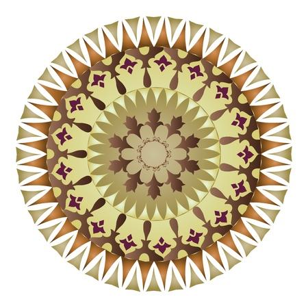 orientalische muster: Oriental Muster und Ornamente kreisf�rmigen Muster