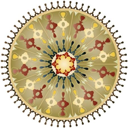 orientalische muster: Oriental Muster und Ornamente kreisf?rmigen Muster Illustration