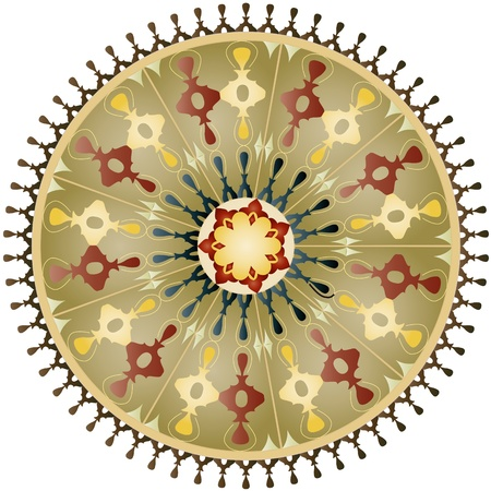 Oriental pattern and ornaments  circular pattern  Illustration