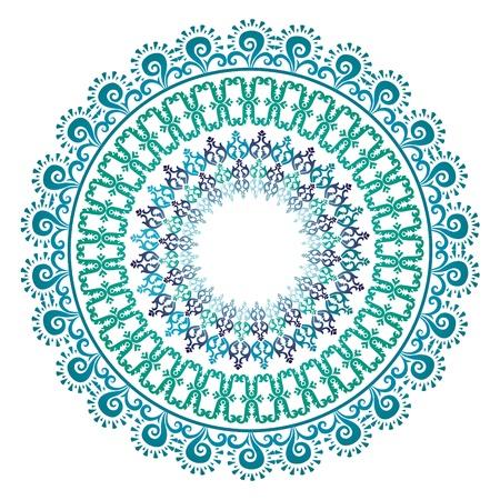 Oriental pattern and ornaments  circular pattern  Çizim