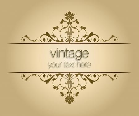sierlijke vintage frame Stock Illustratie