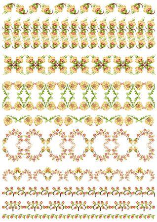 turkish design border set Stock Vector - 17973206