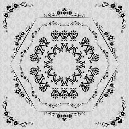 Composition and textured pattern on the background of the polygon Vector
