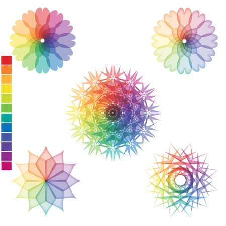 Array of rainbow colors isolated on the surface Stock Vector - 19456811