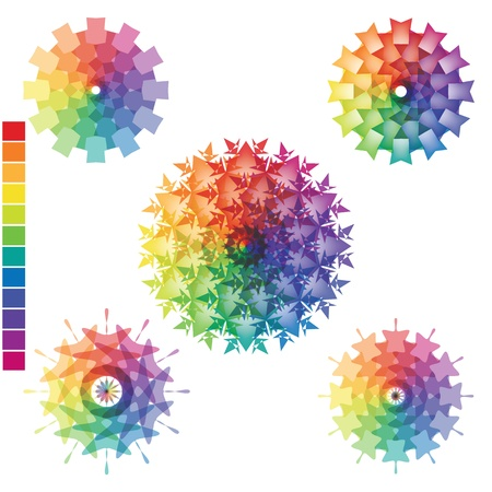 Array of rainbow colors isolated on the surface Vector