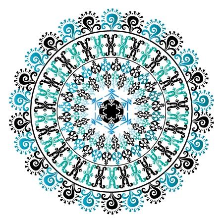 colorful circular pattern of elegant oriental studies Stock Vector - 19844022