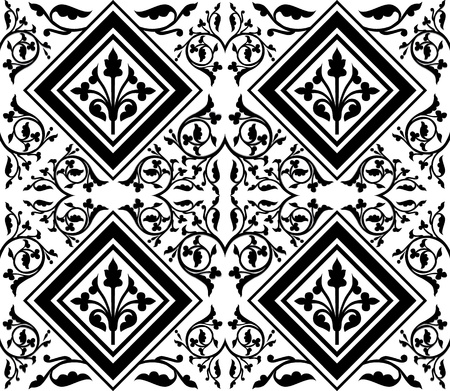 studied: studied oriental seamless pattern with traditional motifs