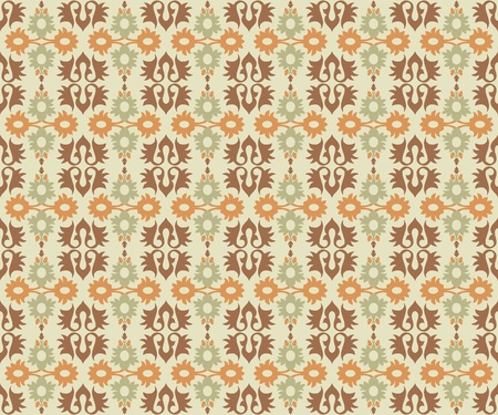 studied: studied traditional oriental seamless pattern with floral motifs