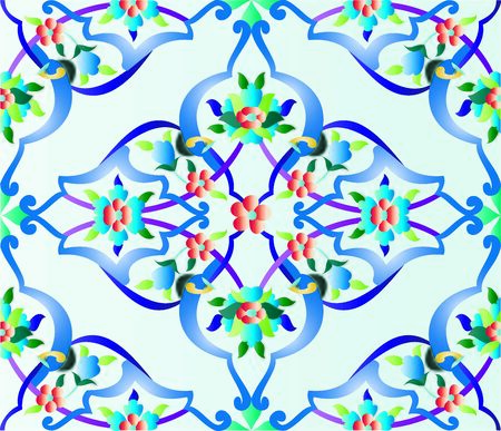 episode: an episode of a traditional Ottoman tile pattern Illustration