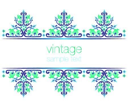 STLichen orientalischen Stil verzierten alten Rahmen Muster Standard-Bild - 24020386