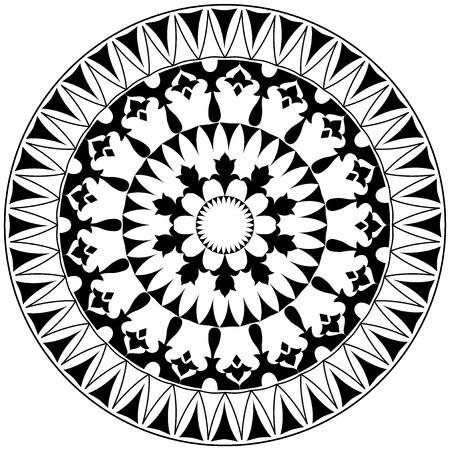anatolian: colorful circular pattern of elegant oriental studies