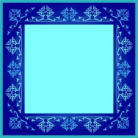 blue series is designed using the old patterns anatolia Ilustração