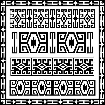 grens elementen van de oude motieven gecreëerd