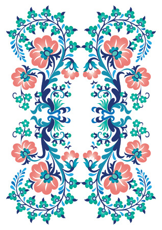 an embroidery design created in the old Turkish motifs Çizim